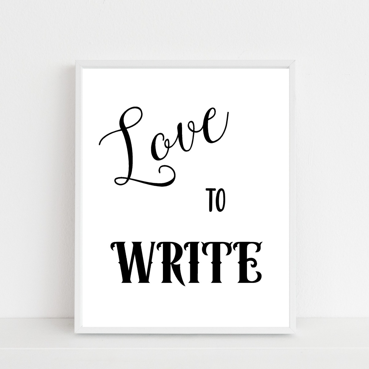 love to write – a printable…