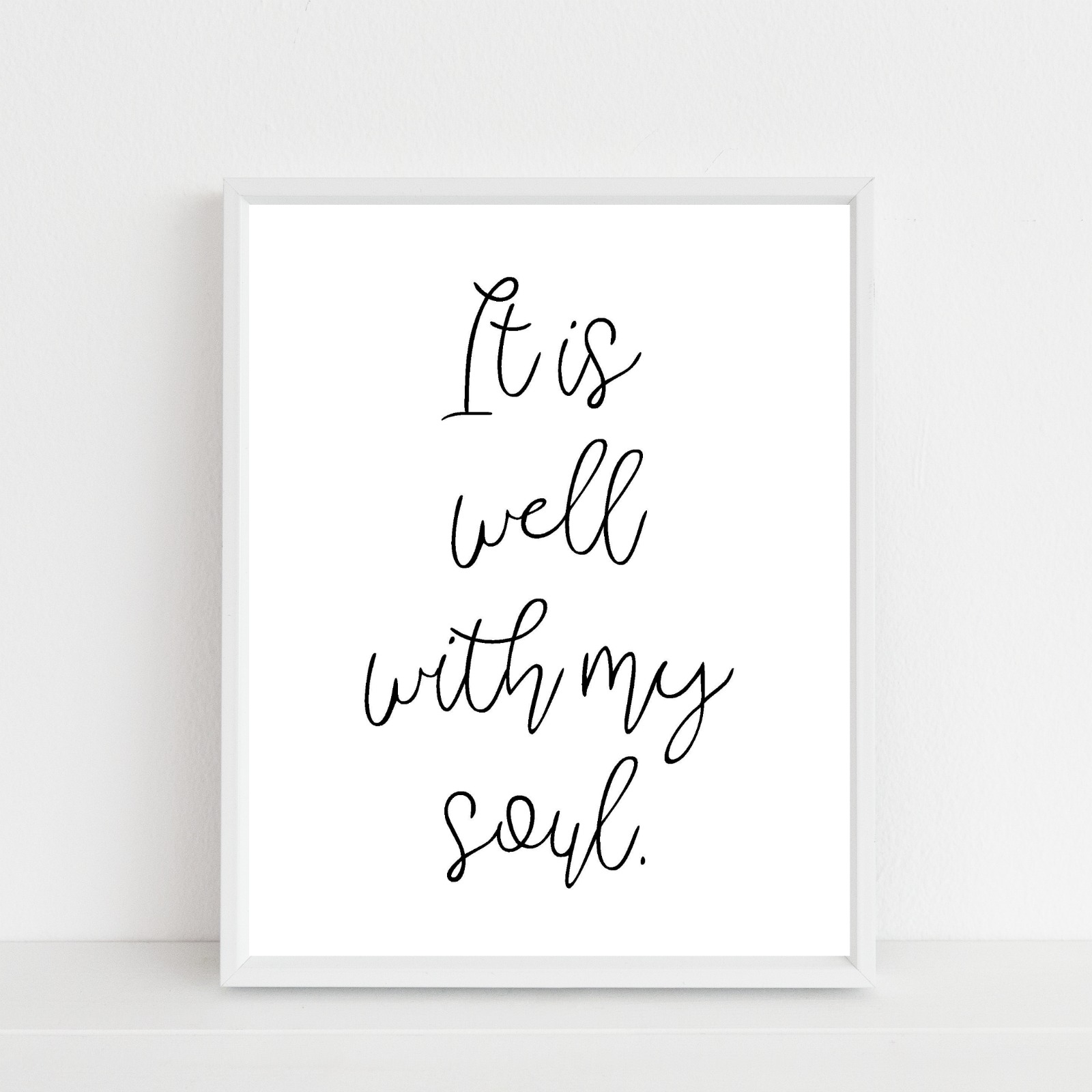 image regarding It is Well With My Soul Printable identify totally free printable it is perfectly with my soul Ginger Simpson White