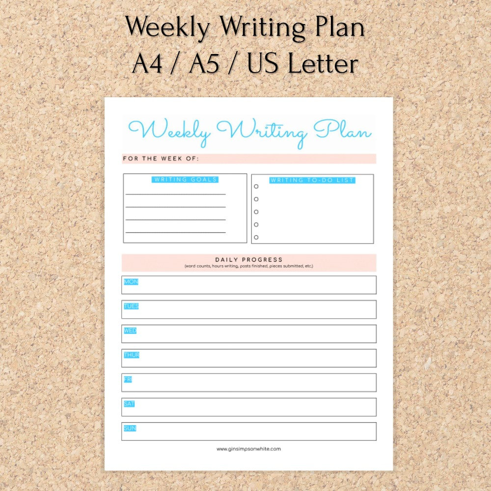 printable (free!) – weekly writing plan…