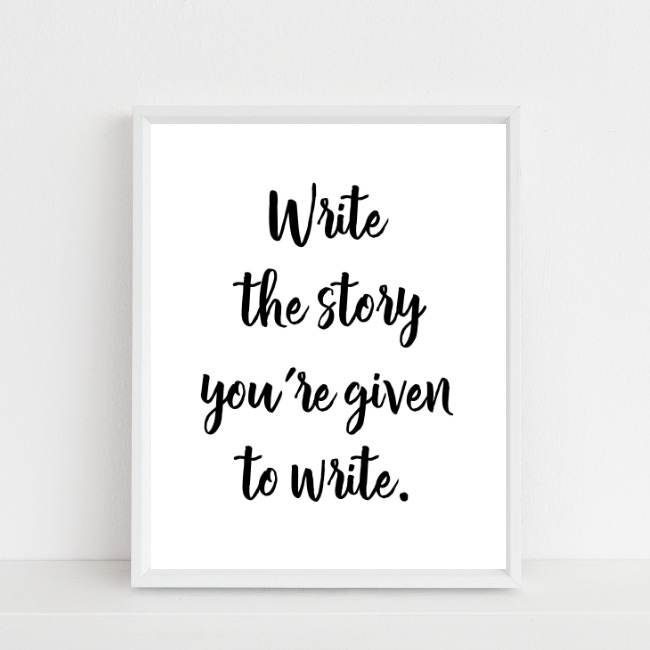 write the story {free printable}…