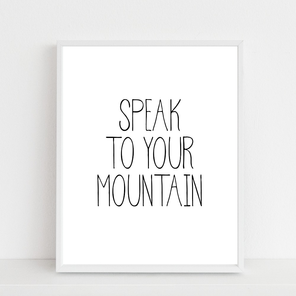 speak to your mountain {printable}…