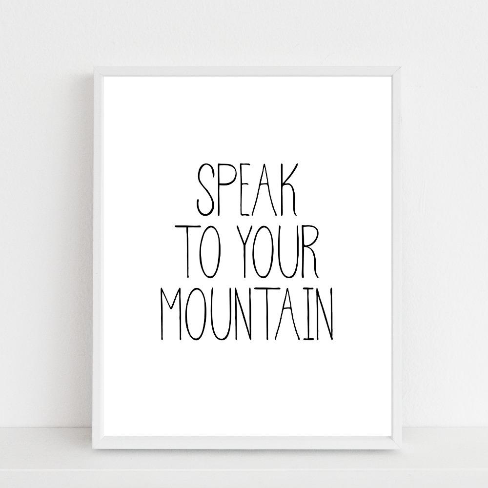 speak to your mountain {printable}…